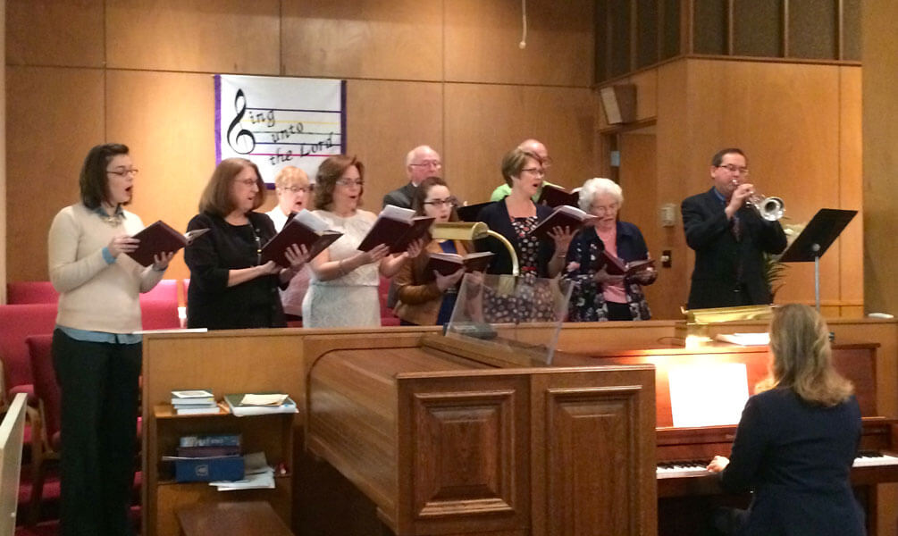 Choir at First Presbyterian Church, Williamsburg, Iowa